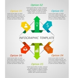 Infographic arrows template vector image