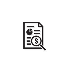 invoice line icon payment money dollar bill vector image