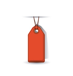 isolated hanging tag design vector image