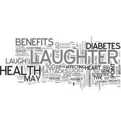 It s no joke laughter is awesome medicine text vector