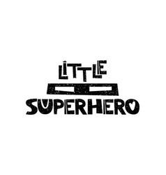 little superhero mask hand drawn style vector image