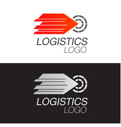 logistic company logo template arrow moving fast vector image