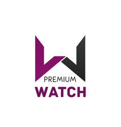 logo for brand premium watch vector image vector image