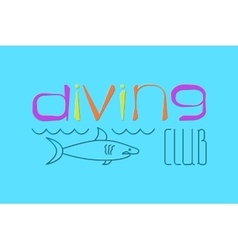 Logo scuba diving vector