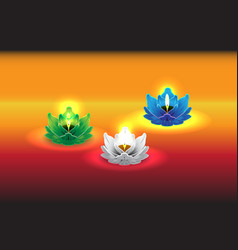 Lotus candle 04 vector