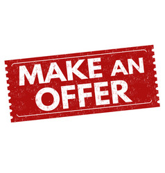 make an offer sign or stamp vector image