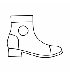 Men boot icon outline style vector