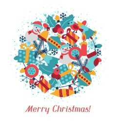 Merry Christmas holiday background for invitation vector image