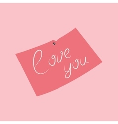 message with pink love vector image