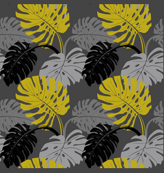 modern seamless pattern with monstera leaves on vector image