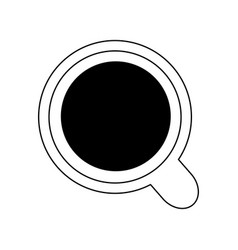mug with beverage icon image vector image