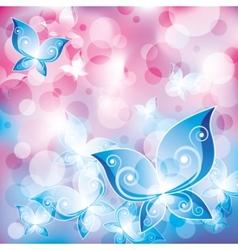 Mystical butterflies vector