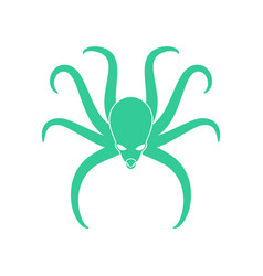 Octopus isolated poulpe on white background sea vector