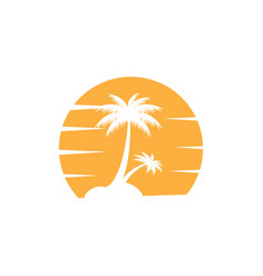 palm tree icon design template isolated vector image