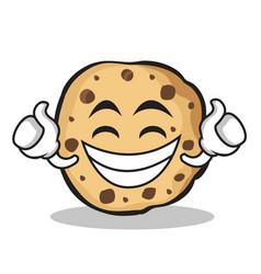 proud sweet cookies character cartoon vector image