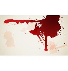 Red ink blot background vector