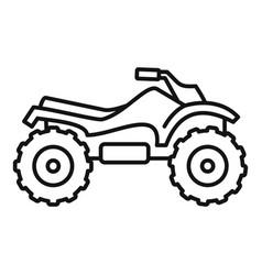 Ride quad bike icon outline style vector