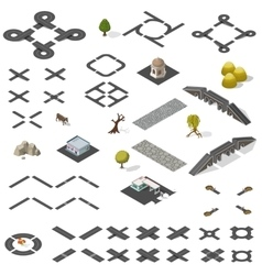 road map kit isometric vector image