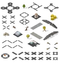 Road Map Kit isometric vector