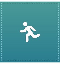 Running flat icon vector image