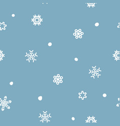 seamless xmas snow flake pattern blizzard vector image
