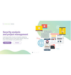 security analysis and project management vector image