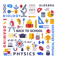 set education and science disciplines vector image