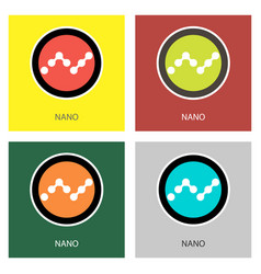 Set of physical golden coin nano xrb digital vector