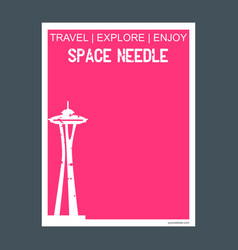 Space needle seattle washington monument landmark vector