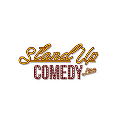 Stand up comedy neon sign lamp vector