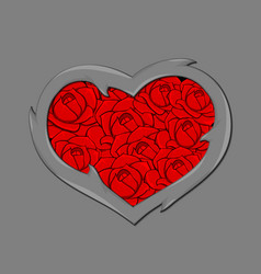 stylized image of the heart vector image