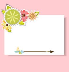 Template for postcardinvitationcard vector