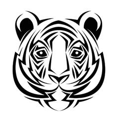 Tiger tattoo animal design vector