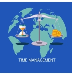 Time Management Concept Art vector image
