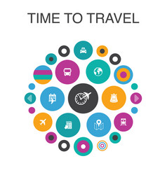 time to travel infographic circle concept smart vector image
