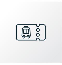transport ticket icon line symbol premium quality vector image