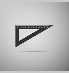 Triangular ruler icon isolated on grey background vector