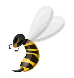 wasp needle icon cartoon style vector image