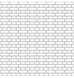 white brick wall background concept vector image