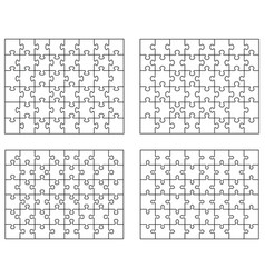 white puzzles separate pieces vector image