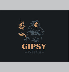 woman gypsy enchantress witch vector image