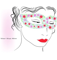 woman in colorful mask vector image