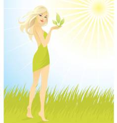 woman sun vector image