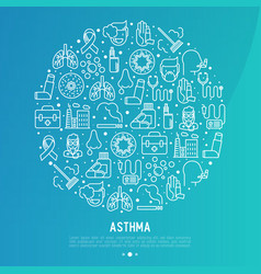 world asthma day concept in circle vector image