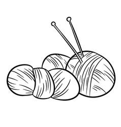 Yarn doodles for print logo creative design vector