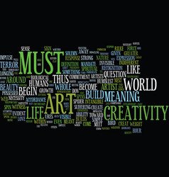 You must be an artist text background word cloud vector
