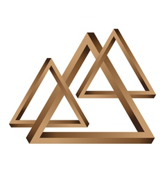 Fantastic triangles vector image vector image