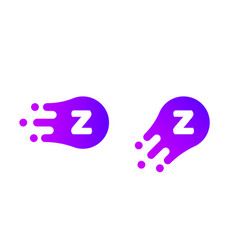 letter z logo abstract liquid bubble drop vector image