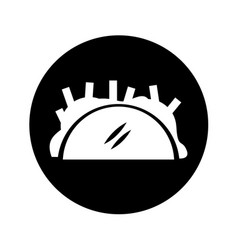 Mexican taco isolated icon vector