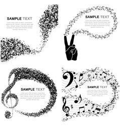 Set of Musical Design vector image vector image